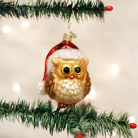 Ornament: Santa Owl