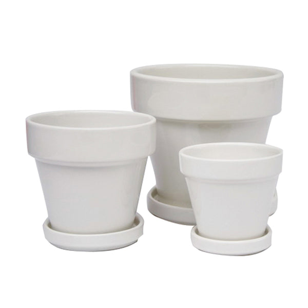 Standard Pot Saucer Attached: White