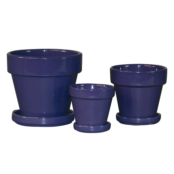 Standard Pot Saucer Attached:  Purple