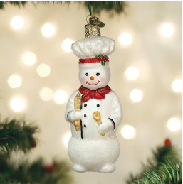 Ornament:  Snowman Chef
