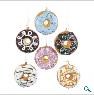 Ornament: Sweeten up the good times! Donuts