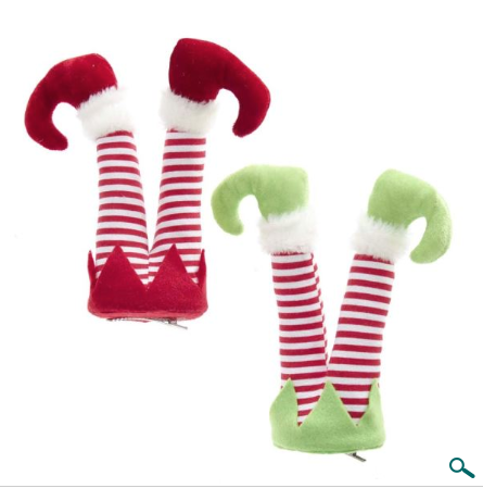 Ornament: Elf Leg Clips