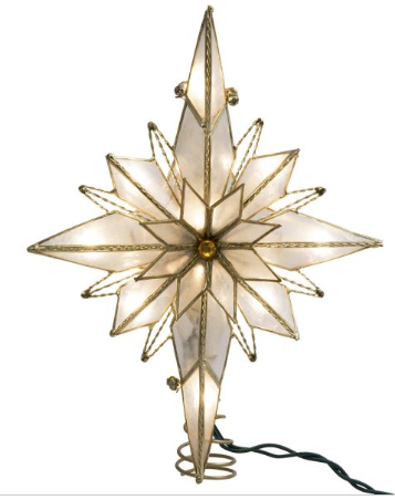 Tree Topper: Art Deco Style Glass Star Orniment