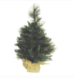 "24"" Artificial Anchorage Fir Tree w/burlap"