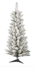 5' Pre-lit Artificial Flocked Tree