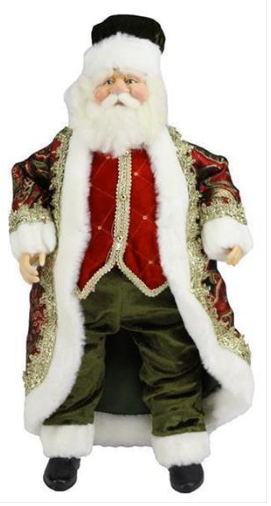 "18"" Standing Santa with Black Hat"