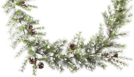 6' Garland: Snowdrop Mountain Pine