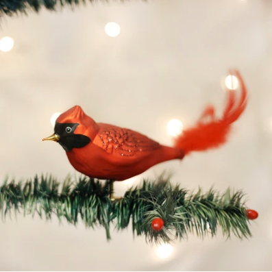 Ornament: Large Red Cardinal