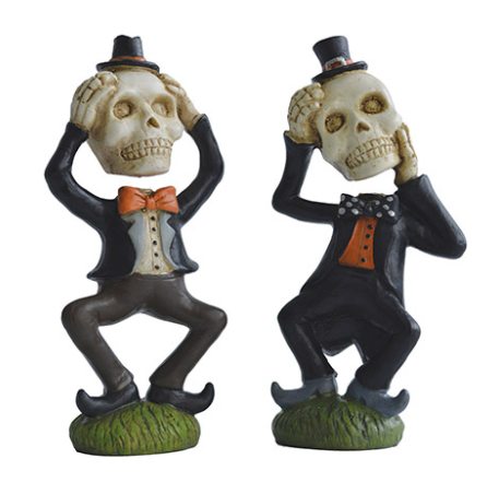 Funny Skeleton Figurine: 4 x 7.75 inches, 2 assorted styles