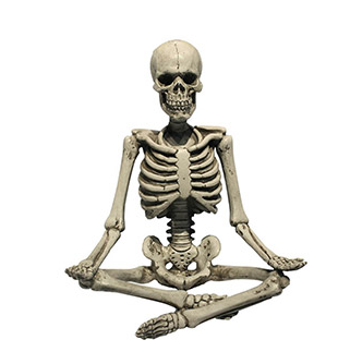 Yoga Skeleton Decor: Meditating, 9 x 11 inches