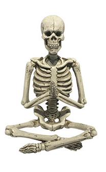 Yoga Skeleton Decor: 9 x 11 inches