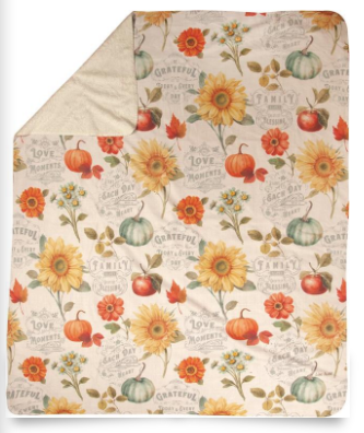 Autumn in Bloom 50x60in throw blanket