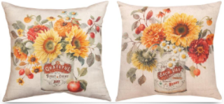 Autumn in Bloom Pillow 18x18in