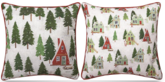 Alpine Cabin Pillows 18x18in