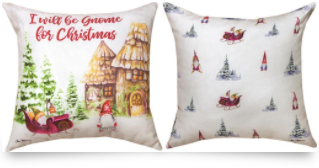 Gnome Christmas Outdoor Pillow 18x18in