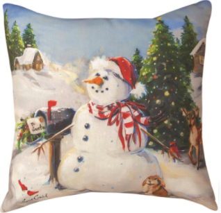 To Santa Pillow 18x18in