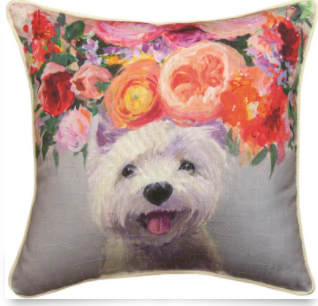 Dog in Bloom Westie