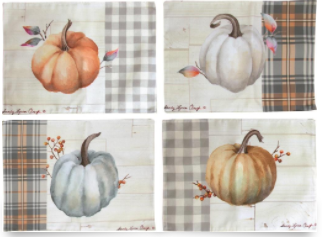 Pumpkin Time Set of 4 Placemats