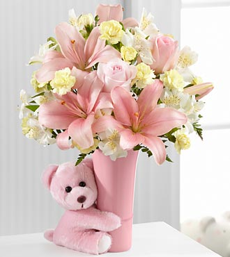 FTD Baby Girl Big Hug Bouquet