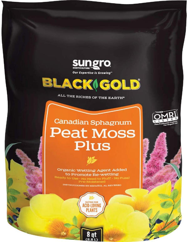 Black Gold Canadian Sphagnum Peat Moss Plus