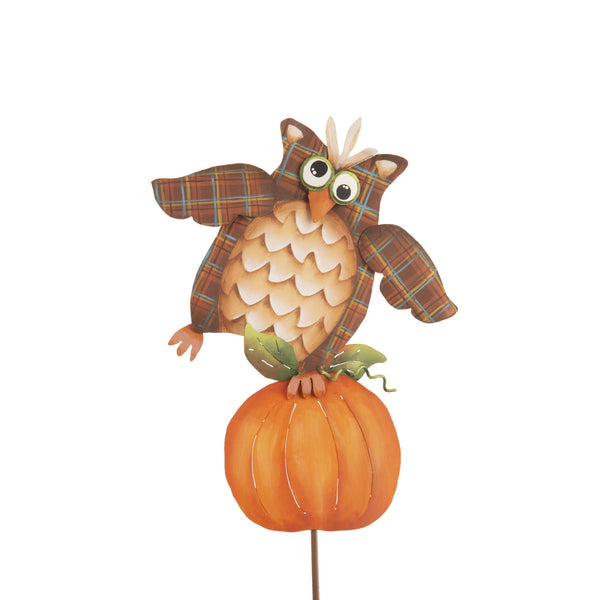 Picks: Plaid Owl on Pumpkin