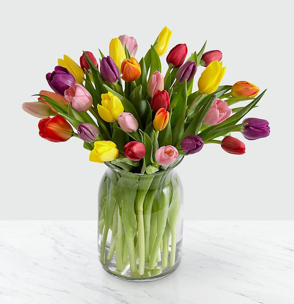 FTD Rush of Color Assorted Tulip Bouquet