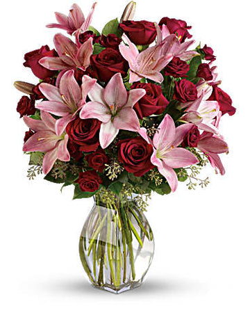 Teleflora Lavish Love Bouquet with Long Stemmed Red Roses