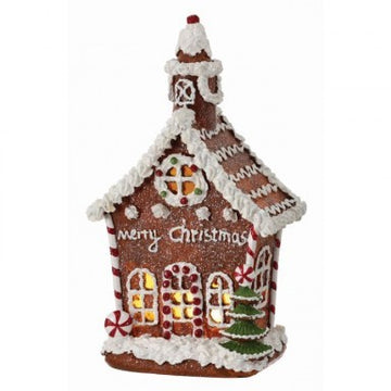 "11"" Gingerbread House LED"
