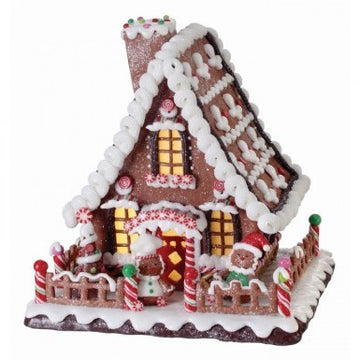 "10"" Gingerbread Candy House"