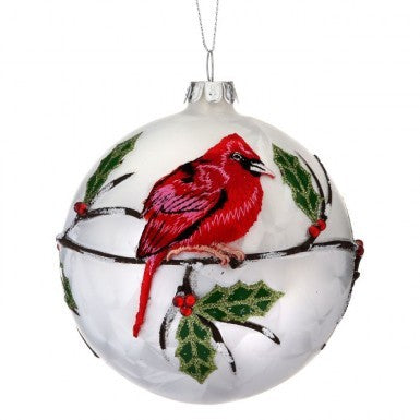 "Ornament: 4"" Cardinal Ball"