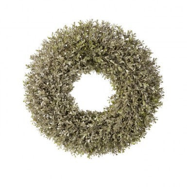 "Wreath: 20"" Champagne Boxwood"