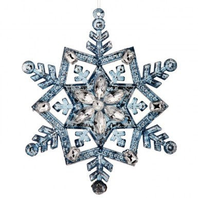 "Ornament: 5"" Jeweled Snowflake"