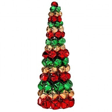 Tree: Red, Green, & Gold Jingle Bell