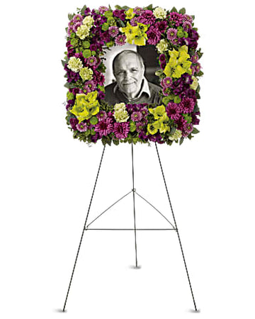 Teleflora Mosaic Of Memories Square Easel Wreath