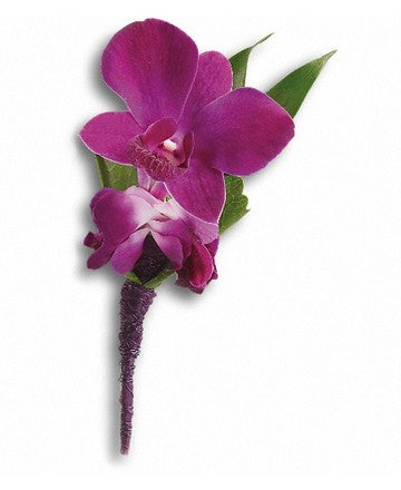 Teleflora Perfect Purple Orchid Boutonniere
