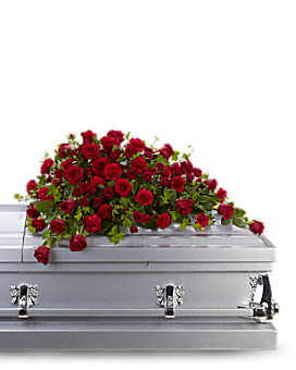 Teleflora Red Rose & Carnation Reverence Casket Spray