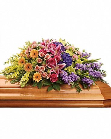 Teleflora Garden Of Sweet Memories Casket Spray