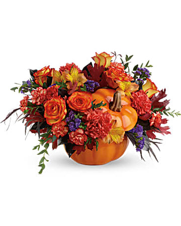 Teleflora Hauntingly Pretty Pumpkin Bouquet
