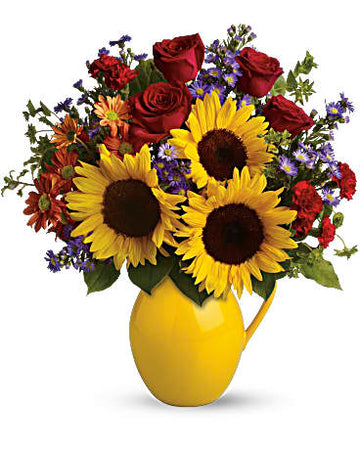 Teleflora Sunny Day Pitcher of Joy