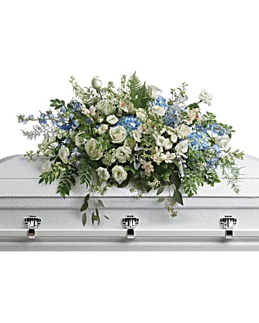 Teleflora Tender Remembrance Casket Spray