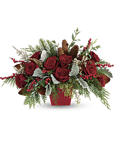 Teleflora's Winter Blooms Centerpiece
