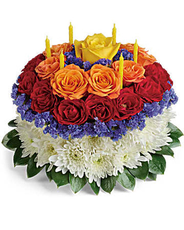 Teleflora Your Wish is Granted Birthday Cake Bouquet