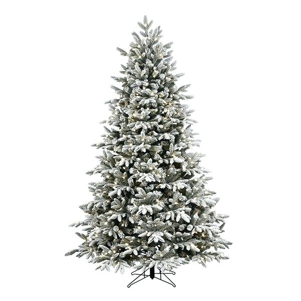 White Flocked Fraser Christmas Tree