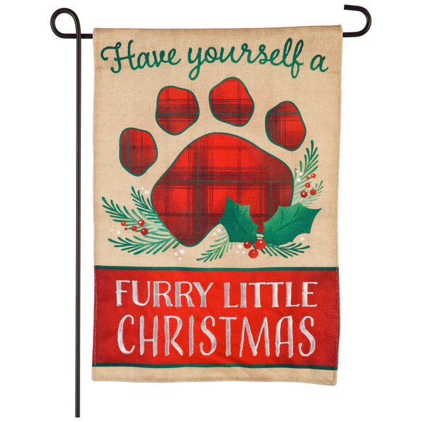 Garden Flag: Furry Little Christmas