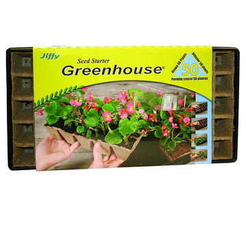 Jiffy Seed Starting Peat Greenhouse Kit 50