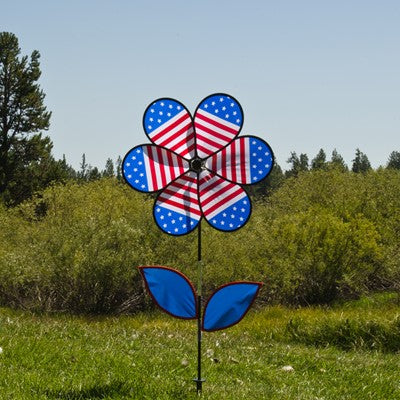 Patriotic Flower Spinner 12""