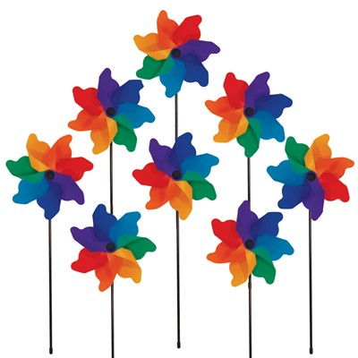 "8"" Rainbow Poly Petal Spinner"