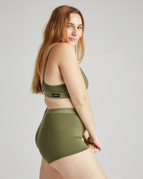 Olive Army Classic Bralette