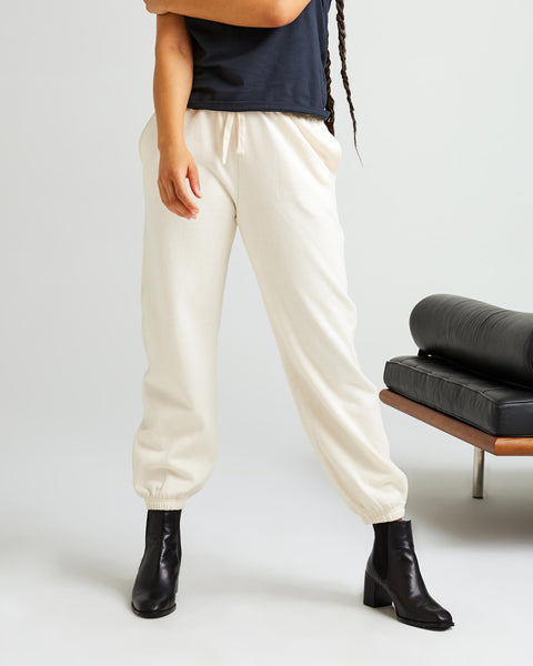 Recycled Fleece Sweatpant Bone