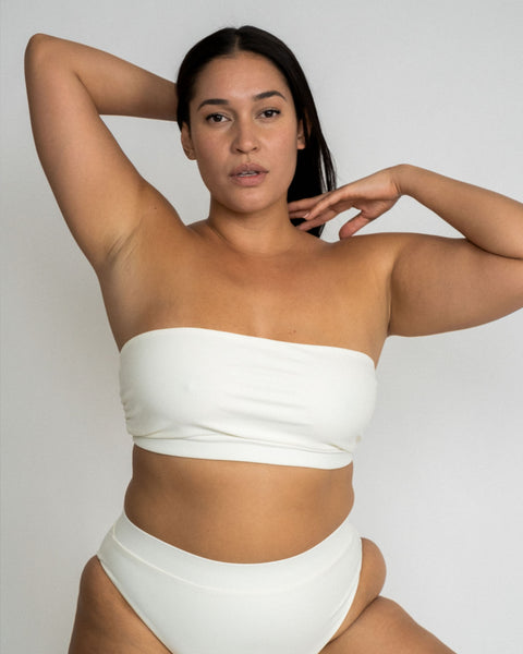 Ivory Claire Bandeau Swimsuit Top
